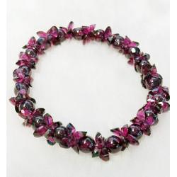 Garnet Floral Design Bracelet